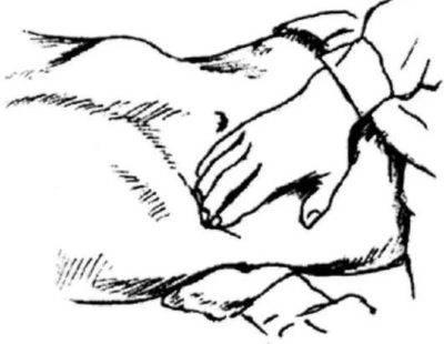 Бимануальная пальпация почки